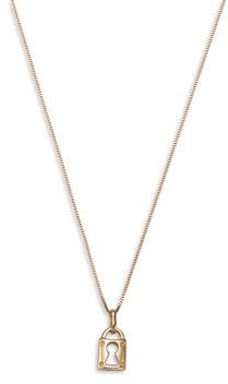 Lock Pendant Necklace in 14K Yellow Gold, 16 - 100% Exclusive