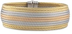 Grey, Rose & Yellow Stacked Cable Bangle