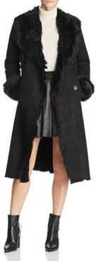 Shearling Coat with Toscana Shearling Shawl Collar - 100% Exclusive