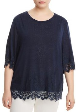 Reeve Lace-Trim Tee
