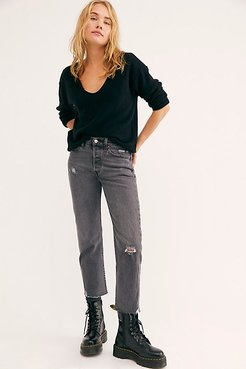 Wedgie Straight Jeans at Free People Denim