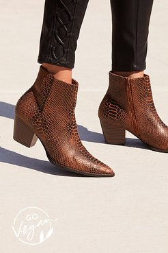 Vegan Going West Boot by Matisse at Free People, Brown Snake, US 7