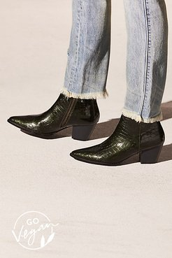Vegan Going West Boot by Matisse at Free People, Green Croc, US 6