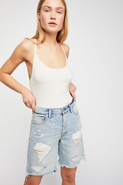 Heartbreaker Long Jean Shorts by We The Free at Free People Denim