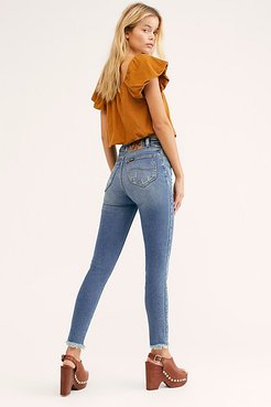 High-Rise Skinny Jeans at Free People