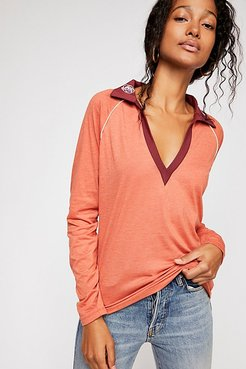 Rose Embroidered Shirt by CAMP Collection at Free People