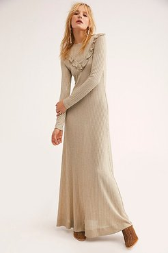Glitter Jersey Midi Dress by by TiMo at Free People