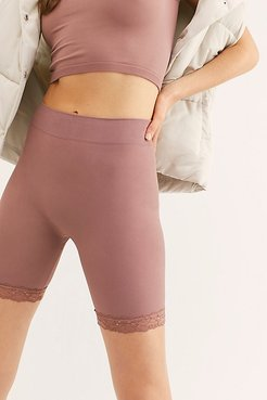 Seamless Lace Bike Short by Intimately at Free People, Mink Mauve, XS/S