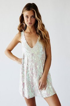 Over The Rainbow Mini Dress by Bali at Free People, Waterlily Combo, S