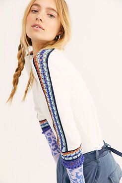 Switch It Up Cuff Top by Free People, Ivory, XS