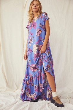 Blossom Maxi Dress by Free People, Sapphire Combo, M