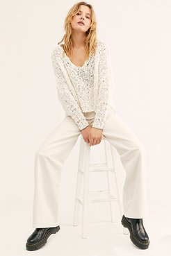 Ribcage Wide-Leg Jeans at Free People Denim