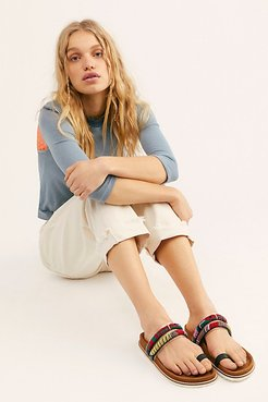 Santa Elena Footbed Sandals by Andre Assous at Free People, Multi, US 7