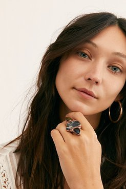 Santa Fe Stone Ring by Ayana Designs at Free People, Black, 7