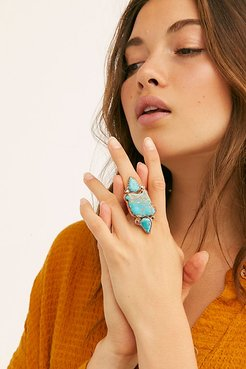 Santa Fe Stone Ring by Ayana Designs at Free People, Turq, 7