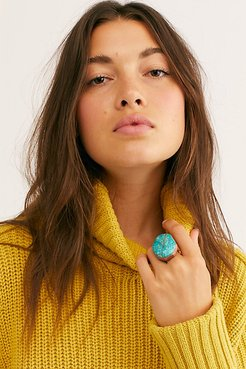 Skye Stone Ring by Ayana Designs at Free People, Turquoise, 7