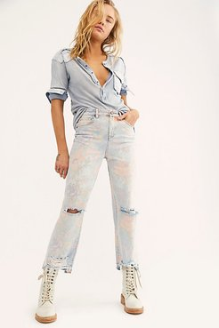 Nirvana Floral Jeans by Blank NYC at Free People