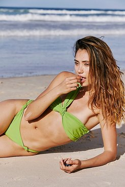 Mystique Knot Bikini Top by AHF at Free People, LIme, S