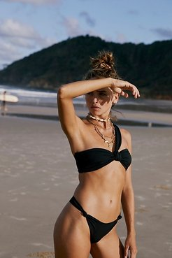 Knotted Bikini Bottoms by AHF at Free People, Black, M