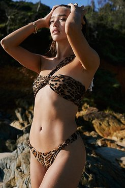 Knotted Bikini Bottoms by AHF at Free People, Leo Brown, L