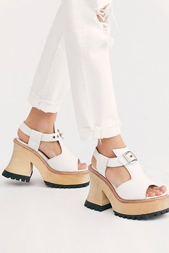 Charlotte Platform by Jeffrey Campbell at Free People, White, US 8.5