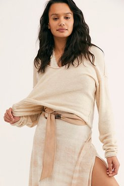 Sasha Tie Belt by FP Collection at Free People, Tan, One Size