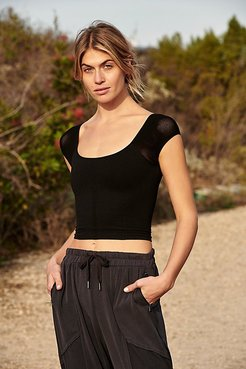 Point Break Solid Crop by FP Movement at Free People, Black, M/L