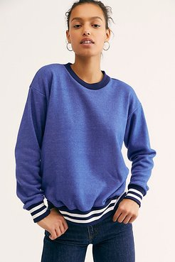 Varsity Crewneck Sweatshirt by CAMP Collection at Free People