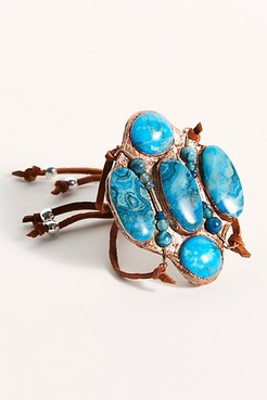Ziggy Stone Cuff by Ayana Designs at Free People, New Blue, One Size