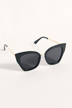 Heart Breaker Cat Eye Sun by Free People, Black, One Size