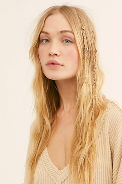 Engraved Hair Rings by Free People, Gold / Copper, One Size