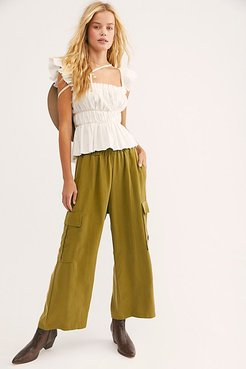 Lounge Cargo Pants by Back Beat Co. at Free People, Avocado, S