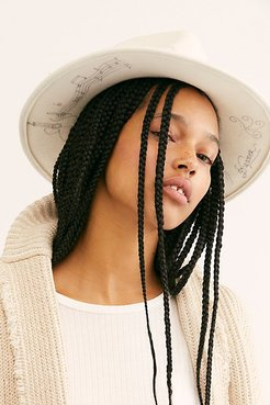 Rock N Roll Graffiti Felt Hat by 'ale by Alessandra at Free People, Ivory, One Size