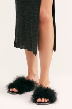 Crush On You Slide Sandals by Jeffrey Campbell at Free People, Black Satin Black, US 8
