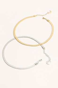Reggie Thick Anklet by Lili Claspe at Free People, Silver, One Size