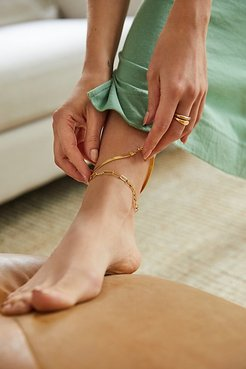 Reggie Thick Anklet by Lili Claspe at Free People, Gold, One Size
