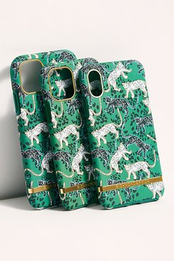 Green Leopard Phone Case by Richmond & Finch at Free People, Green Leopard, US 10
