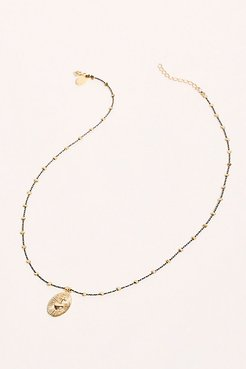 Thread Necklace by By Johanne at Free People, Black / heart, One Size