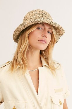 Au Naturel Straw Bucket Hat by Beachgold at Free People, Brown, One Size