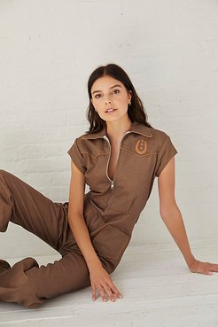 Lucky Stars Jumpsuit by Understated Leather at Free People, Dust, XS