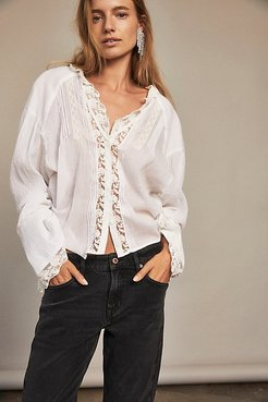 Clemence Buttondown by Free People, Ivory, S