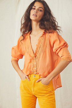 Clemence Buttondown by Free People, Super Tropical, XS