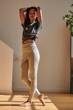 High-Rise Full-Length Wrap Up Legging by FP Movement at Free People, Grey Heather, S