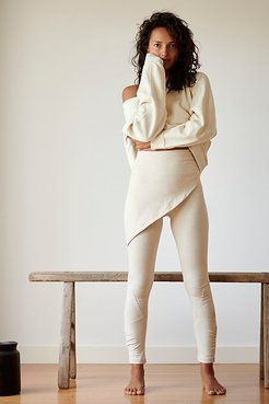 High-Rise Full-Length Wrap Up Legging by FP Movement at Free People, Oatmeal Heather, L