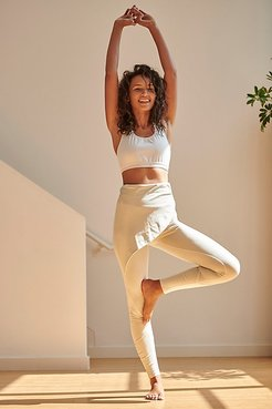High-Rise Full-Length Wrap Up Legging by FP Movement at Free People, Winter Sky, XS