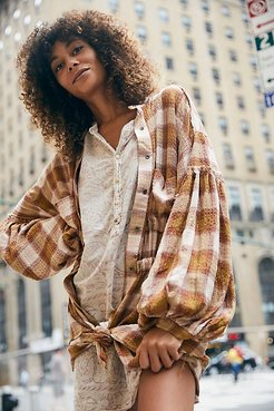 By The Way Plaid Mini Dress by We The Free at Free People, Blush Combo, S