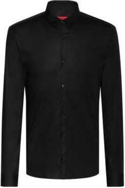 BOSS - Extra Slim Fit Shirt In Stretch Cotton - Black