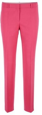 HUGO BOSS - Cropped Slim Fit Pants In Stretch Wool Flannel - Pink