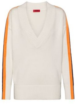 BOSS - Oversized Fit Sweater In Cotton And Cashmere - Natural