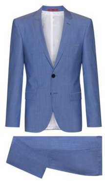 BOSS - Extra Slim Fit Suit In Virgin Wool - Light Blue